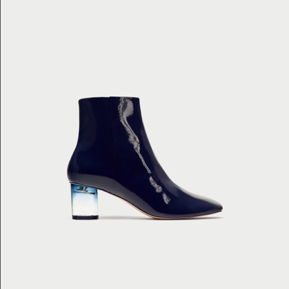 e8a961e7bc4b •Zara ankle boots with clear heels•. M 5a792ac700450fe007cf6464